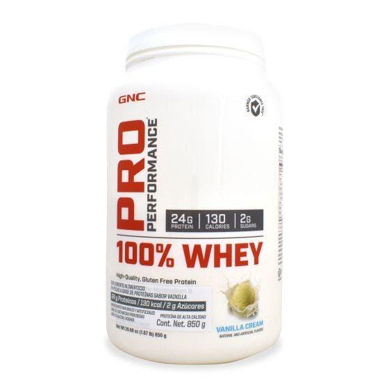 GNC Pro Performance 100 % Whey Proteína de suero de leche Vainilla - 850 Grs