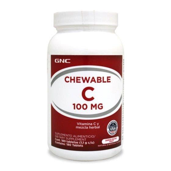 GNC Vitamina C Masticable 100 mg - 180 Tabletas