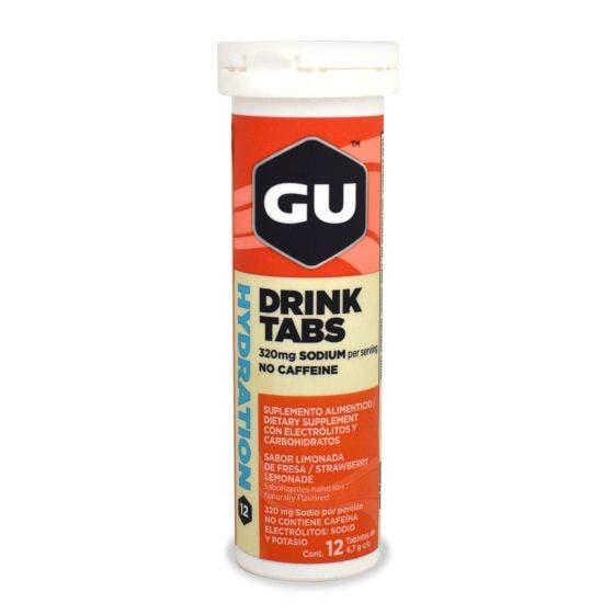 GU Tabletas Hidratantes Limonada de Fresa - 12 Tabletas
