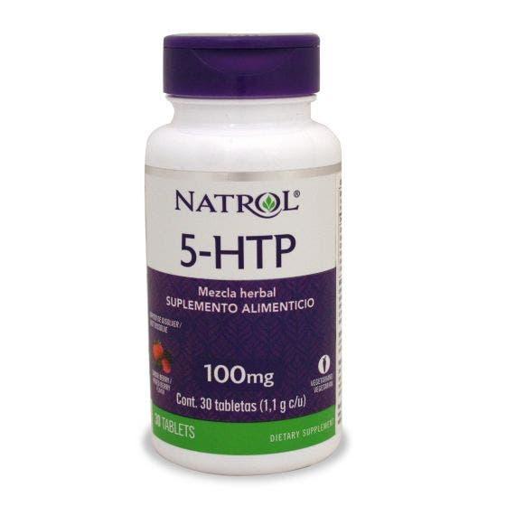 Natrol 5-HTP 100 mg Disolución Rápida Moras - 30 Tabletas