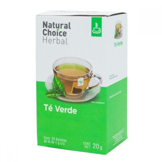 Natural Choice Herbal Té Verde - 20 bolsitas