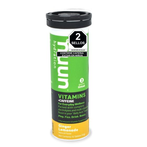 Nuun Pastillas Hidratantes con Vitaminas Limón y Jengibre - 12 Tabletas