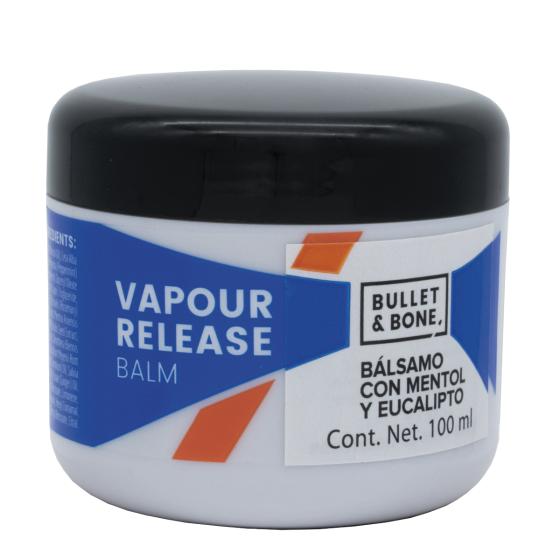 Bullet & Bone Bálsamo de liberación de Vapor Mentol & Eucalipto - 3.5 oz